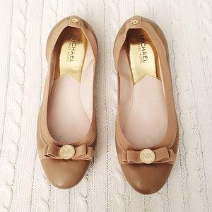 Nude Michael Kors Dixie Ballet Flats